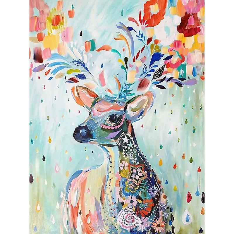 Fezrgea Nya DIY 5D Diamond Broderi Korsstygn Dream Elk Full - Konst, hantverk och sömnad - Foto 2
