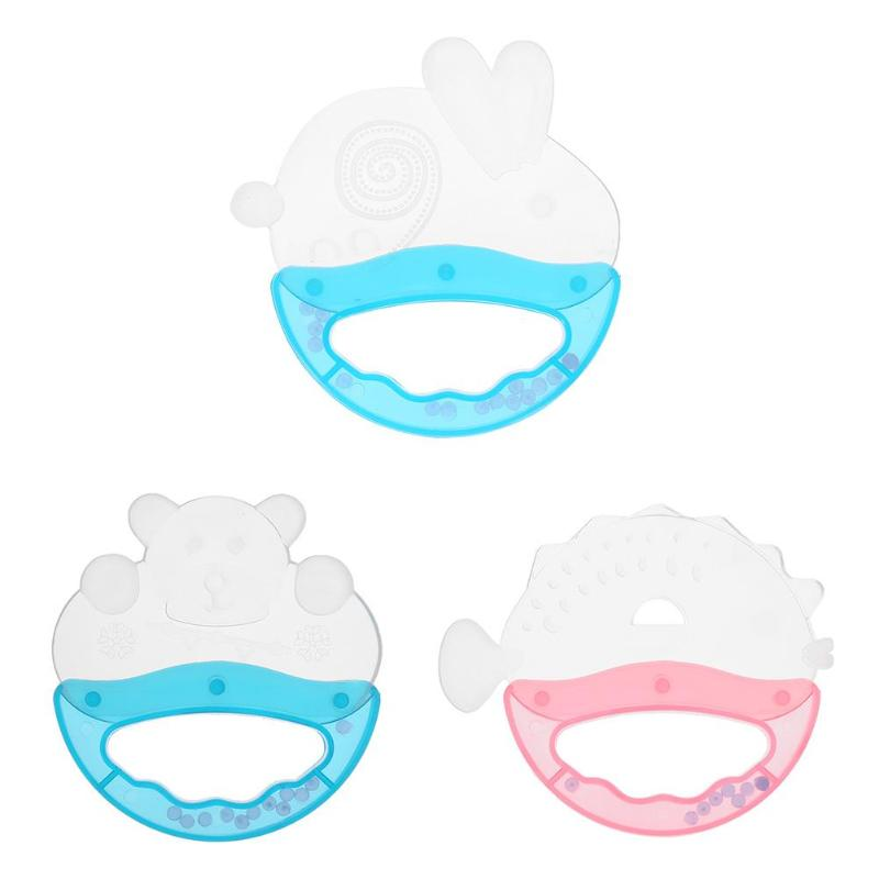 Cartoon Silicone Baby Teether Teething Training Pacifier Chew Oral Tool Baby Tooth Cleaning Toys
