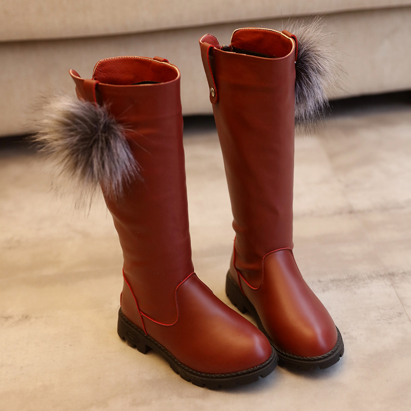 Winter-New-Fashion-Children-Leather-Boots-Warm-Princess-Boots-Girls-Boot-Kids-Cute-Shoes-Size-26-37-2