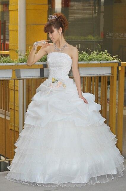 Tube top fluffy wedding dress fashion wedding dress wedding dress hs110