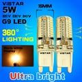 G9 silicon LED bulb ac 220V 5W 7W led Lamp SMD3014 64pcs leds lamp 360 Beam Angle warm colde white LED light Free Shipping