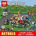 Nueva LEPIN 15014 1858 unids parque De Atracciones El carnaval Modelo Building Blocks Set Compatible CREADOR 10244 Arquitectura juguetes regalos