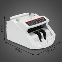 Digital Cash Counter Banknote Money Detector UV MG Counter feit Detection with LED Display for Bank Retail Store