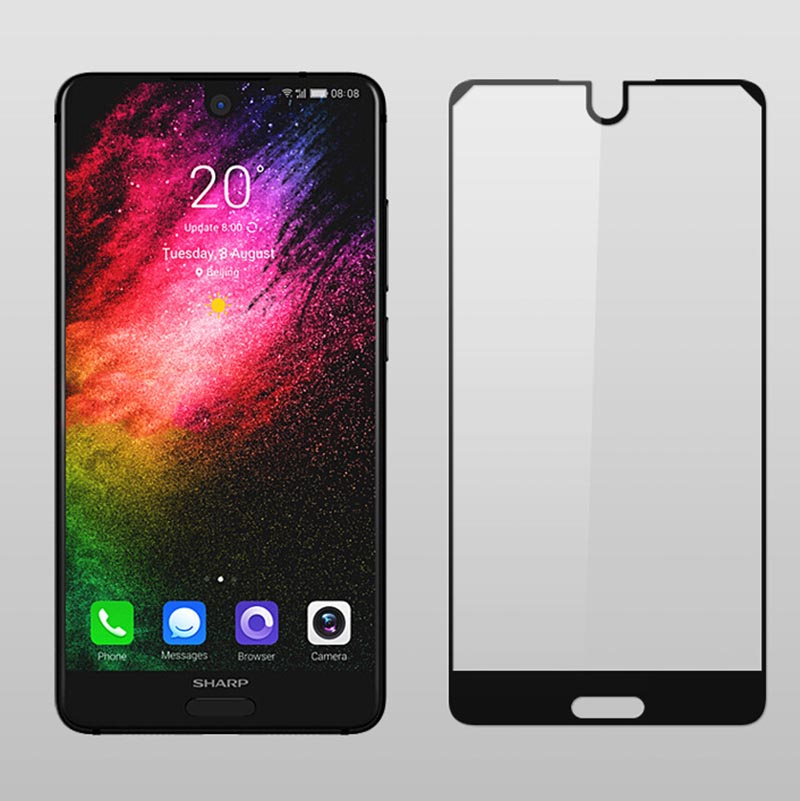 "2PCS 9H HD Full Cover Color Tempered Glass For Sharp Aquos S2 / C10 5.5"" Screen Protector Protective Film Guard"