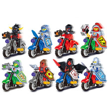 8pcs/lot Future Knights With Motorcycle Minifigures Action Figure Toy