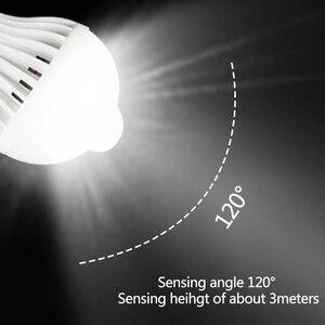 Image 5 - PIR hareket sensörlü LED Ampul E27 Lamba 5 W 7 W 9 W 110 V 220 V led ışık Indüksiyon Ampul Merdiven Koridor gece Işık Koridor Lambaları