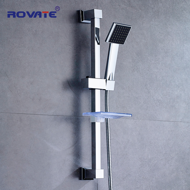 ROVATE Bathroom Shower Slide Bar Stainless Steel  Accessories Wall Mount Shower Sliding Head Holder