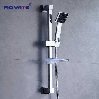 ROVATE bathroom Shower Slide Bar Stainless steel  Accessories Wall Mount Shower Sliding Head Holder - DISCOUNT ITEM  25% OFF All Category