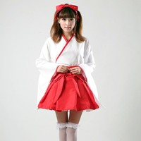 Shanghai Story Japanese Anime Girl's Cosplay costumes TOP + SKIRT Halloween Outfits Fancy women Girls Lolita Costumes