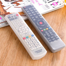 Clear TV Air Condition Remote Controller Silicone Protector Case Cover Skin Dust Waterproof Pouch Bags Organizer