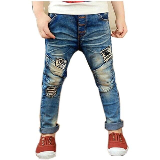 bd7b921bc Harem Niños Niños Jeans Pantalones Azules de Mezclilla para niños Otoño  Primavera 2017 Nueva Llegada NZK0088
