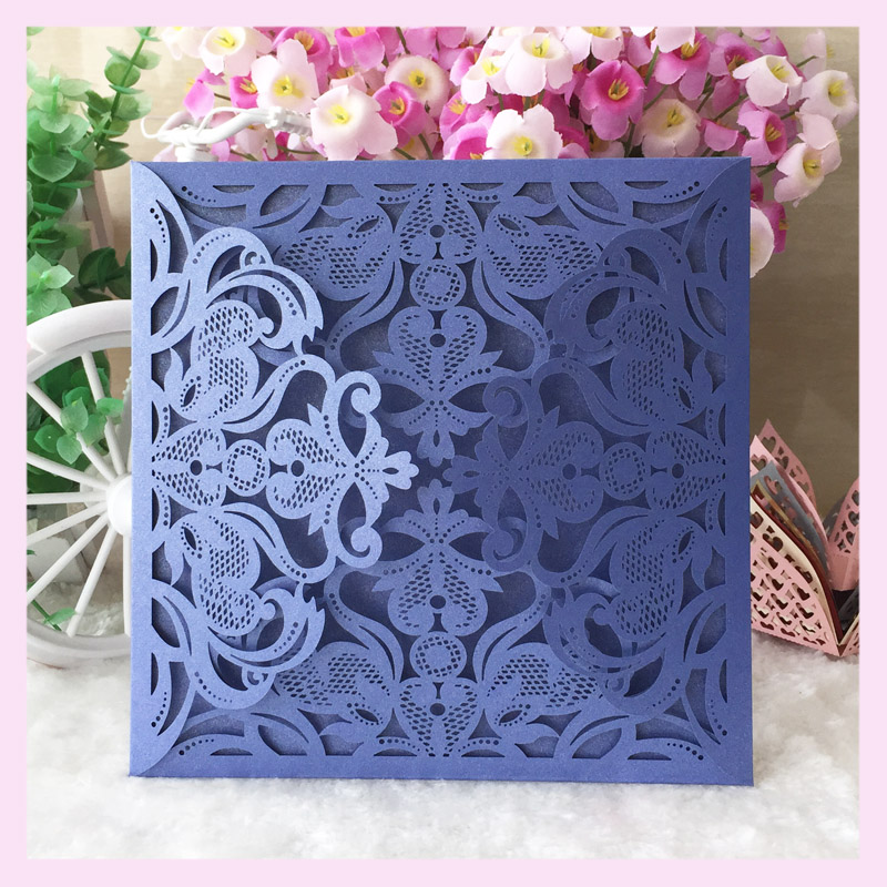 Decoration Wedding Invitation Card With Laser Cut New Arrival Laser Cut Arabic  Wedding Invitation Hot Sale Four Folds Unique