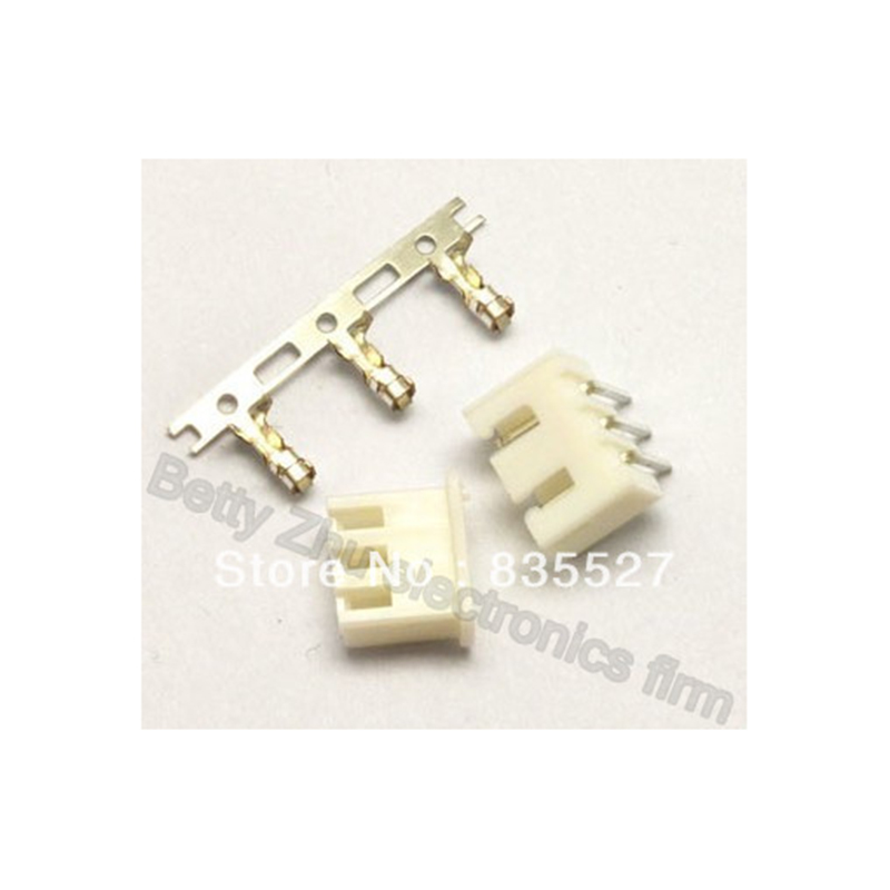 100pcs/lot Xh2.54-3p 3pin Terminal Block 2.54mm Pitch Connector : Plug + Plastic Bending Needle Socket + Terminal
