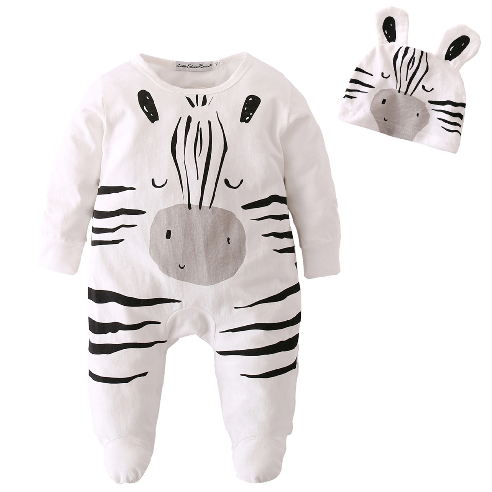 Clothing Sets 2018 New Fashion Cartoon Rompers Sets Newborn Infant Girls Clothes Set Rabbit Romper+hat 2pcs Toddler Jumpsuit Ropa For Bebes