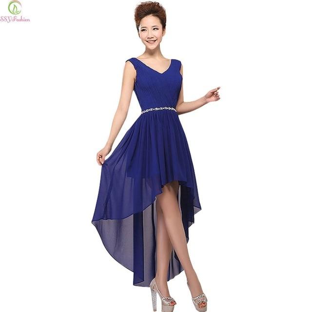 Clearance Evening Dress Ssyfashion Chiffon V Neck A Line Plus Size