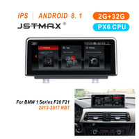 JSTMAX 10.25 IPS 2+32G RAM Android 8.1 PX6 Car Stereo For BMW 1 2 Series F20 F21 F23 Cabrio GPS Navi WIFI BT IPS Touch Scree