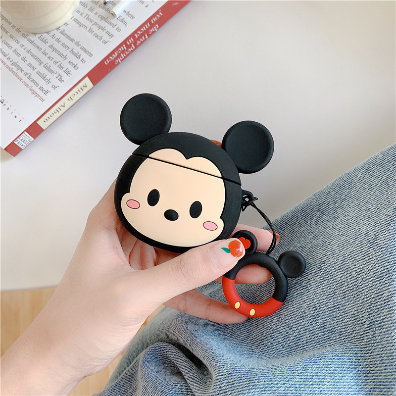 Image 5 - 3D cartoon Mickey Minnie Mouse Soft Silicone Earphone Case For Apple AirPods 1 2 Protection Wireless Bluetooth Headset Cover-in Earphone Accessories from Consumer Electronics