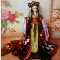 Handmade Traditional Chinese Dolls With Joints Movable Collectible Vinyl Dolls Girl Toys Gifts 12 Inch Ancient