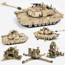 2018 Abrams M1A2 танки комплекты военные армии США мировой войны 2 Ww2 пушки Hummer Наборы строительные блоки игрушки Детский подарок