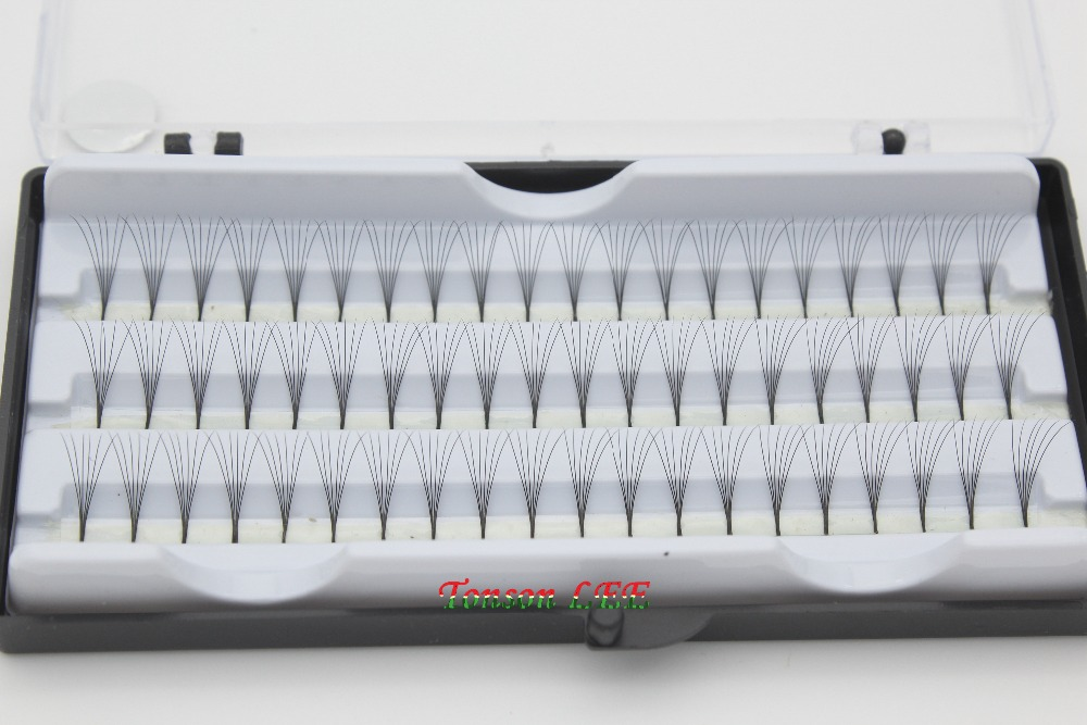 1 CASE Professional 0 15C Curl 8 10 12MM Natural False Eyelashes Extension font b Makeup