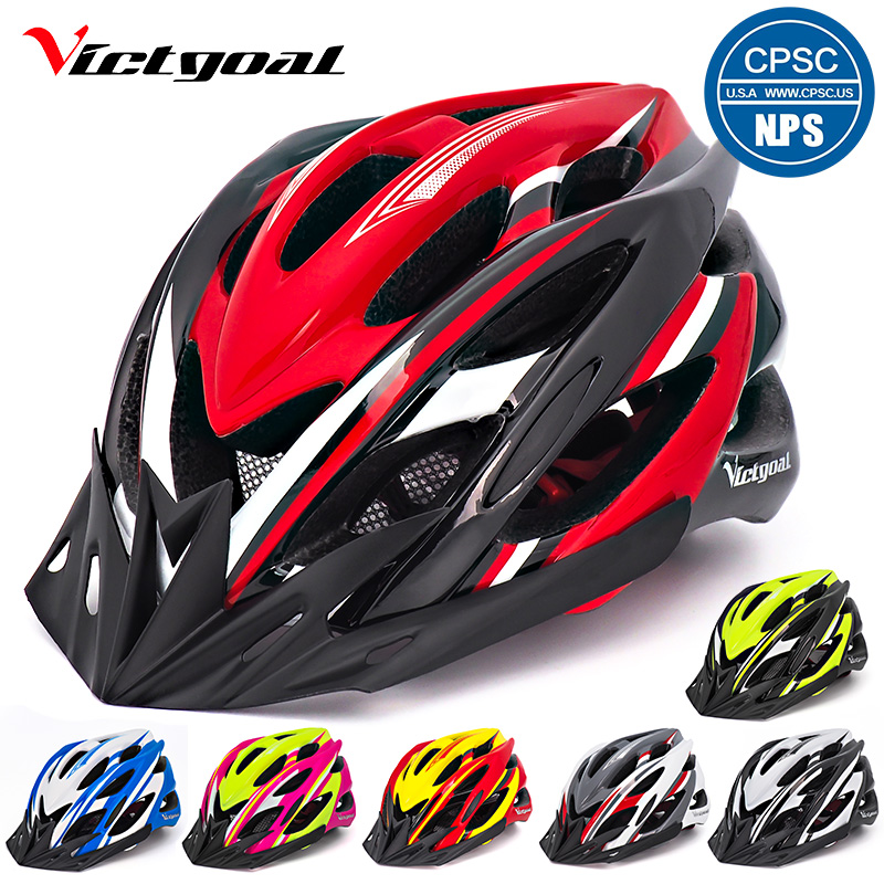 VICTGOAL Bicycle Helmets Matte Ti Men Women Cycling Helmet Back Light Mountain Road Bike Integrally Molded K1002
