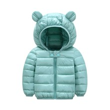 1e5b00ddcd199 Super cool 1- 5 years old baby girls jacket kids boys fashion coats with  ear hoodie autumn girl clothes infant clothing import
