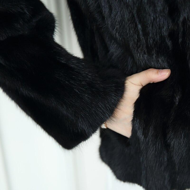 Outwear Courte Noir Vison Fourrure Hiver Lutte De Veste Black Femelle 2018 Nouvelle Manteau qPpnf