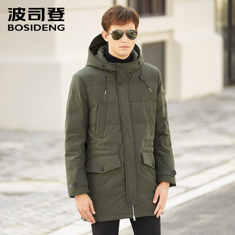Jackets & Coats Bosideng Winter Men Down Coat Hood Down Jacket England Style Plus Size Thick Warm Parka Smart Casual Outwear B1601109q To Win Warm Praise From Customers