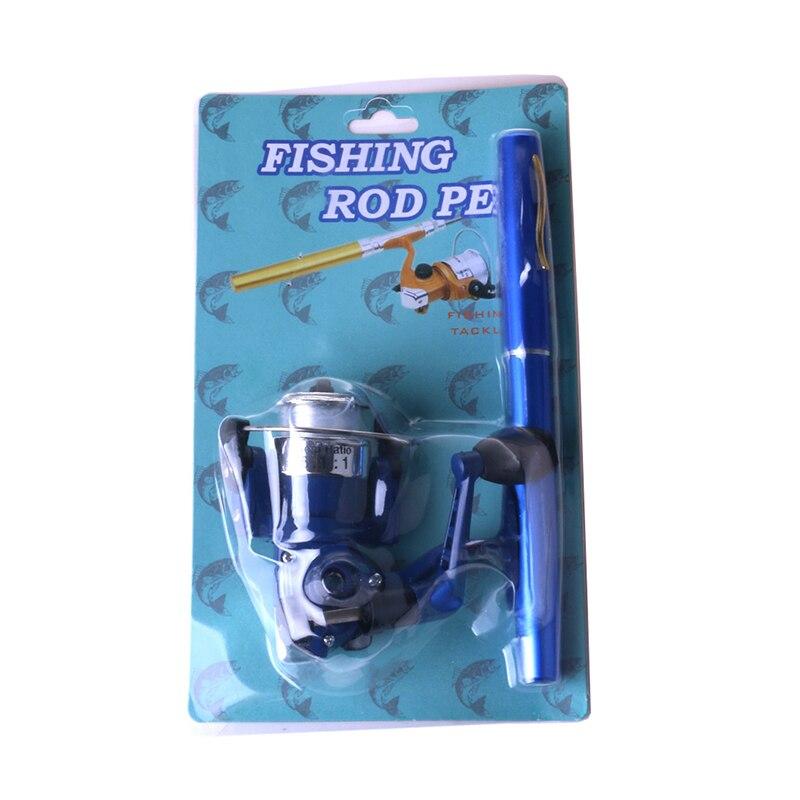 mini vara de pesca forma caneta dobrado 05