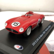 Brand New LEO 1/43 Scale Car Model Toys Italy 1955 Maserati 300S 24h Du Mans #15 Racing Diecast Metal Car Model Toy For Gift