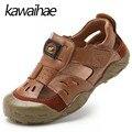 Real de Cuero de Verano de Los Niños Zapatos Cómodos Respirables de Playa junto al mar de Ocio Casual Niños Niños Sandalias Kawaihae Marca