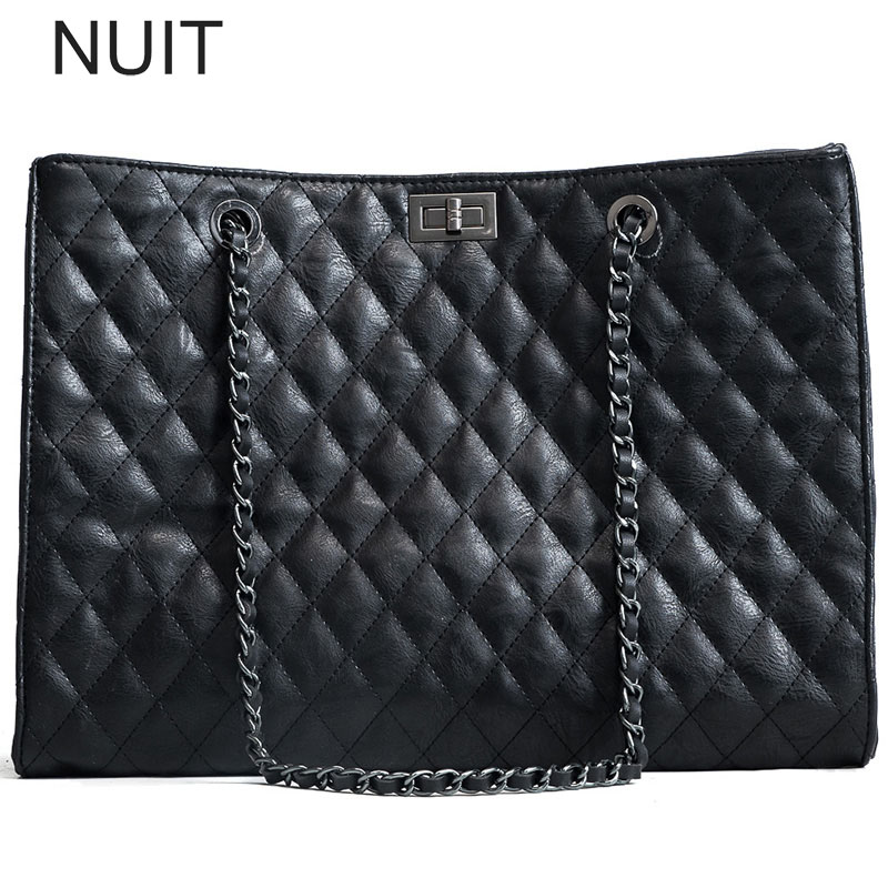 Women Bags Diamond Lattice Women Handbags Soft Pu Leather Lingge Chain Shoulder Hand Bag Large Capacity Messenger Crossbody Bag