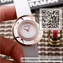 复刻版香奈儿幸运草系列石英女表真皮表带精钢表33MM☼
