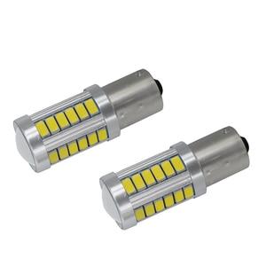 Image 3 - 2 個 Led 電球ライセンスプレートライト 1156 ホワイト 33SMD RV キャンピングカーインテリアランプバックアップリバースライト 1141 1073