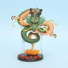 15cm anime Dragon Ball Z Action Figures Shenron Dragonball Z Figures Set Esferas Del Dragon+7pcs 3.5cm Balls+Shelf Figuras DBZ
