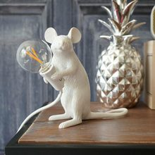 Resin Seletti Mouse Lamp Desk Lights Industrial Retro Animal Live Art Mouse Table Lamp Bedroom Cafe Bar Decorate Table Lighting(China)