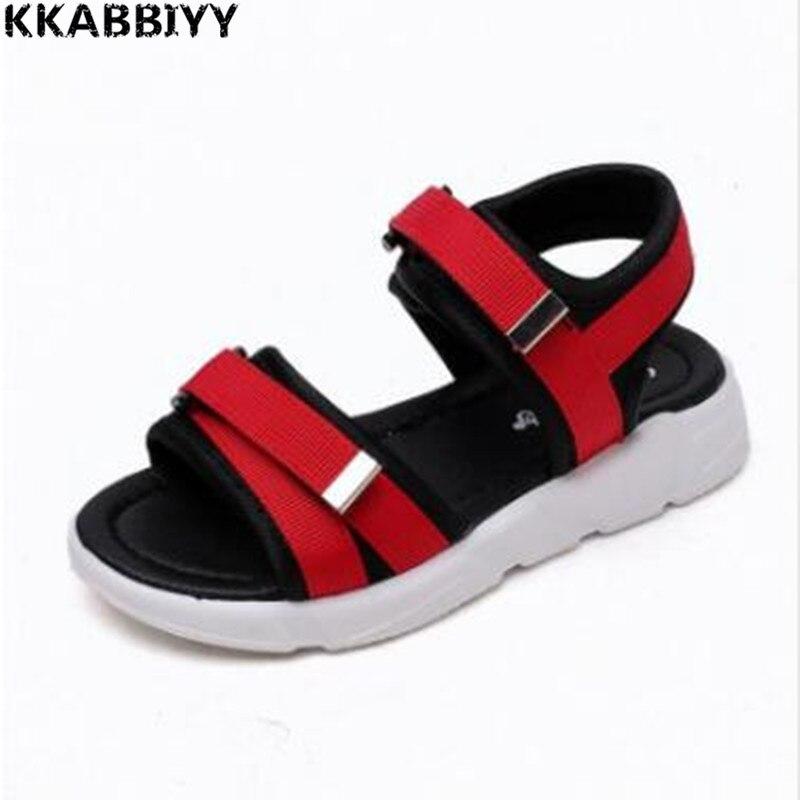 Boys Sandals Summer Sneakers Kids Shoes Infantil Boys Beach Sandals Casual Fashion Soft Flat Shoes Size 26-30