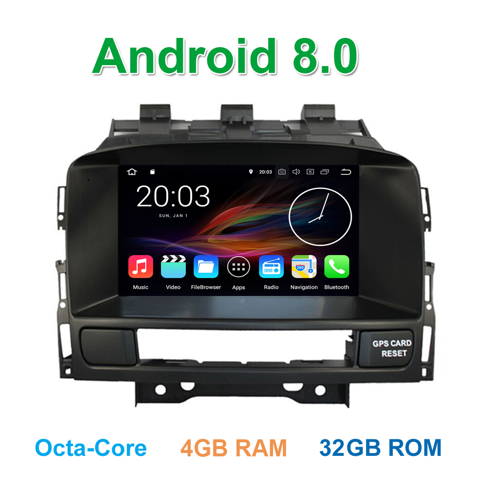 Android 8.0 Car DVD Player for Opel Astra J Vauxhall Astra Buick Verano with Radio BT Wifi GPS Navigation