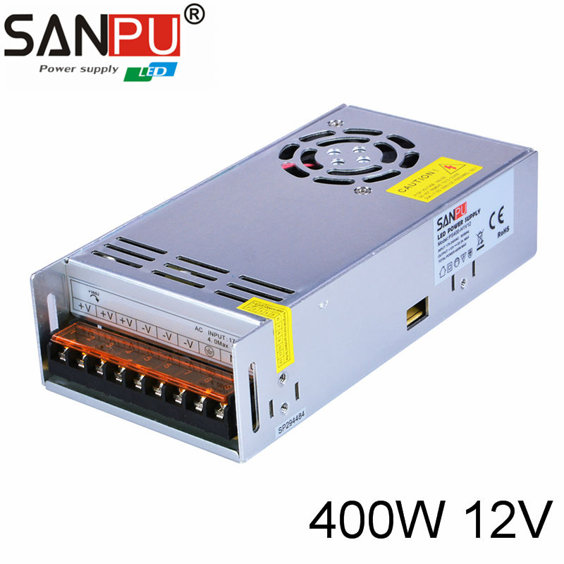 LED Power Supply 12 V 33A 400W LED Driver Power Adapter Switching 220V to 12V Transformer Standard PS for 5050 3528 Strip LED