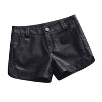 Autumn Winter PU Leather Shorts Women Plus Size 3XL Mini Short Femme Trousers Women Bottoming Sexy Leather Shorts Feminino C4677