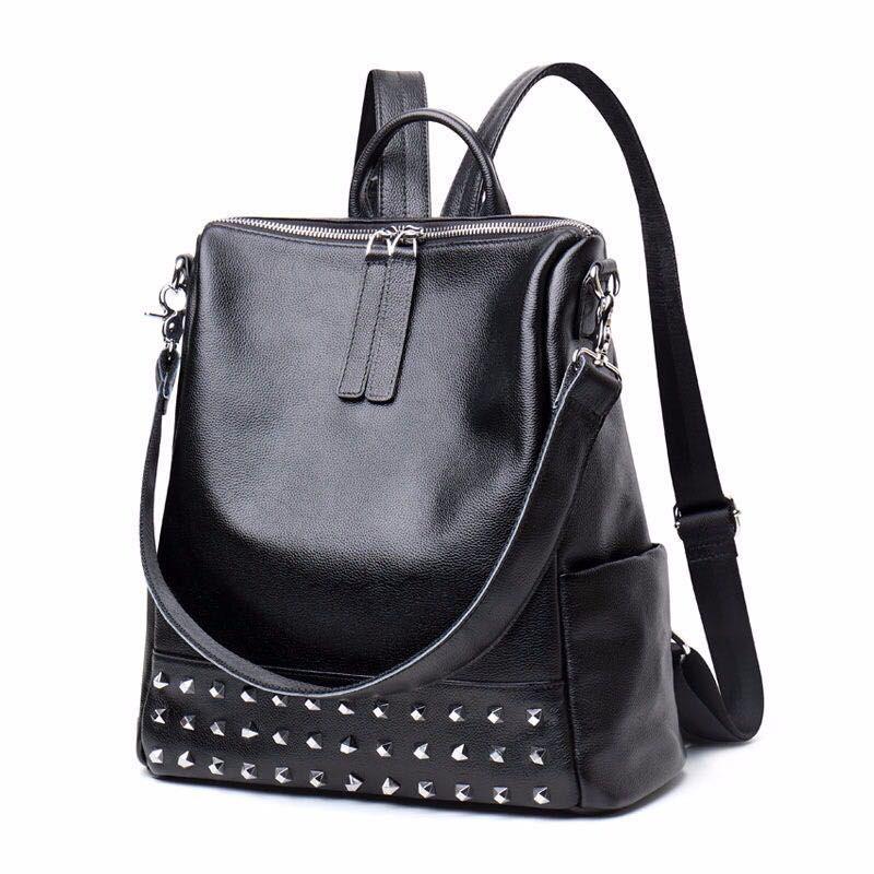New Fashion Women Backpack High Quality Leather Youths Backpacks for Teenage Girls Female School Shoulder Bag Bagpack mochila цена