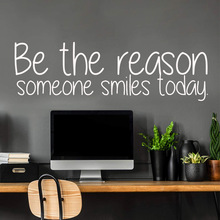 DIY Art be the reason someone smile today Art Sticker Waterproof Wall Stickers vinyl Stickers Home Decoration Wallpaper smile for no reason iris