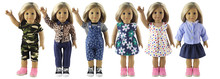 6 Set Doll Clothes for 18 Inch American Girl Doll Handmade Casual Wear Outfit