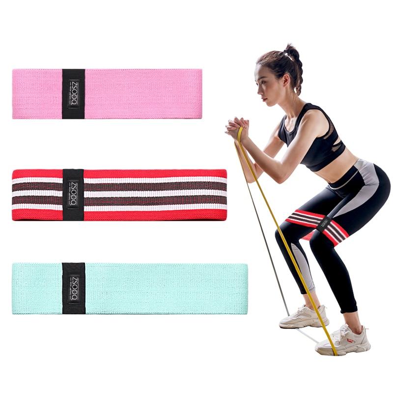 Fasce per anca di resistenza fasce per Fitness in tessuto antiscivolo Pilates Squat profondo anello elastico bottino banda palestra attrezzatura per l'allenamento della forza