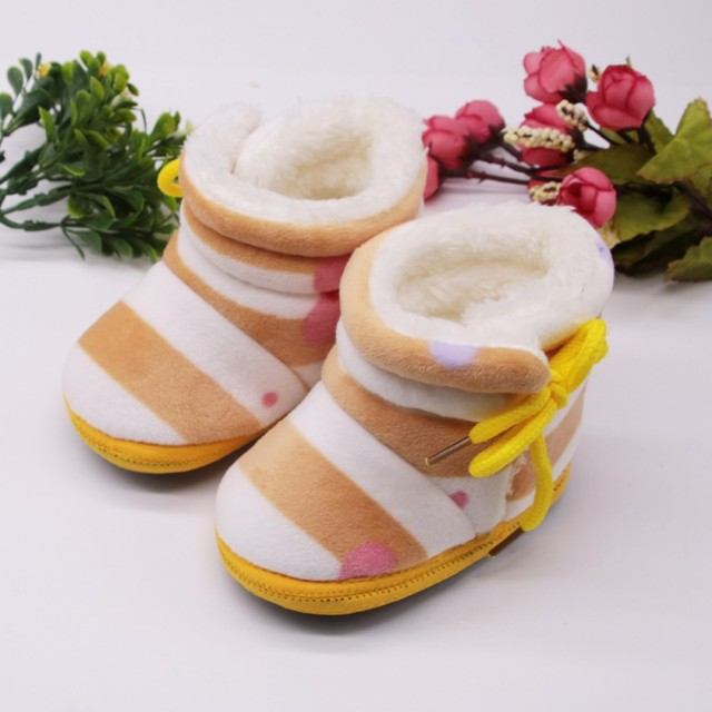 Boots Winter Warm Baby Snow Boots Hot Baby Plus Velvet Toddler Boots New  Baby Shoes Newborn Soft Sole Anti-slip Crib Shoes S 6ea0a0399731