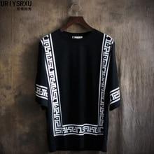 Formato do palácio de Manga Curta T Shirt Da Forma de Lazer Sem Forro  Superior vestuário Blusa Solta Gola Redonda Grandes Estale. e147ac88a6ae4