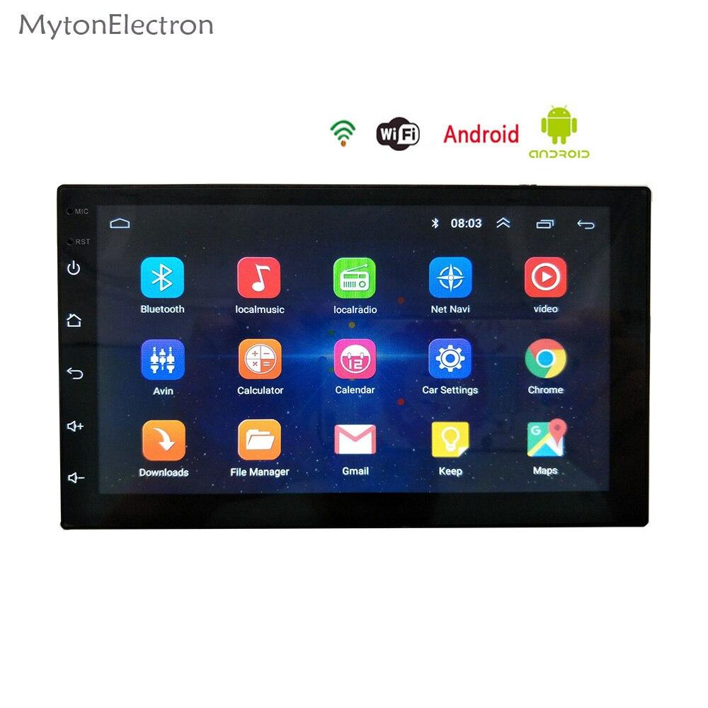 Voiture mp5 DC12V 1080P 7 Pouces 2DIN Android 8.1 Lecteur multim/édia pour Voiture Navigateur GPS Commande au Volant FM//AM Radio WiFi Bluetooth Appels Mains Libres Dual USB