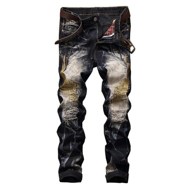 Taille hommes Trous Grande Adulte 29 jeans Jean Déchiré Pantalon 42 tqw7zXFzWE