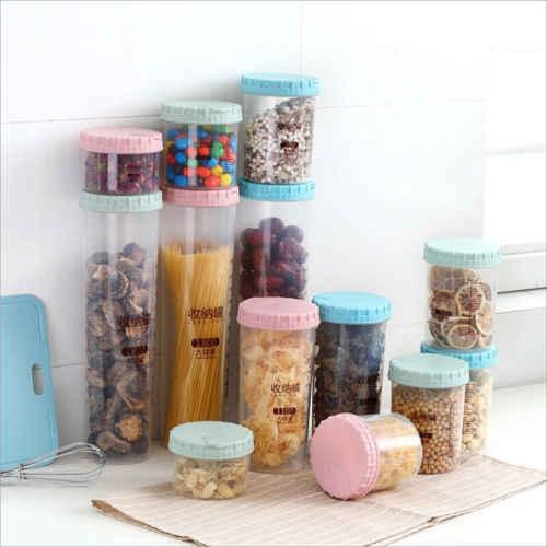 34528fe64e2f 2018 Plastic Kitchen Food Cereal Grain Bean Rice Storage Box Container Box  Cases 300-1800ML