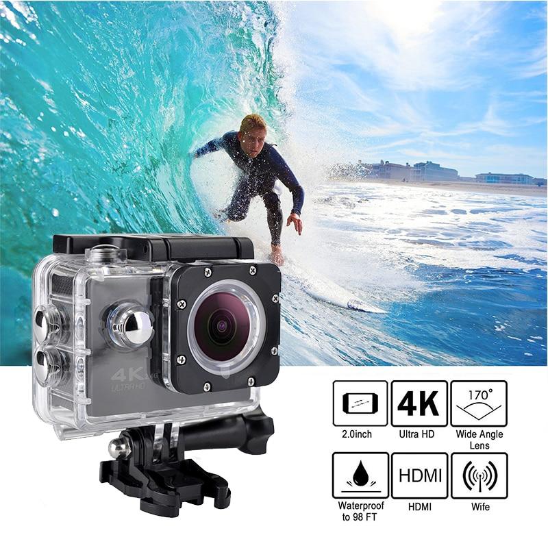 Tekcam F60R 4k WIFI Удаленная Экшн-камера 1080p HD 16MP GO PRO стильная камера на шлем 30 метров Водонепроницаемая Спортивная DV камера